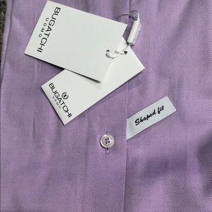 Bugatchi Shirts - Bugatchi shaped fit NWT dress shirt purple 16.5